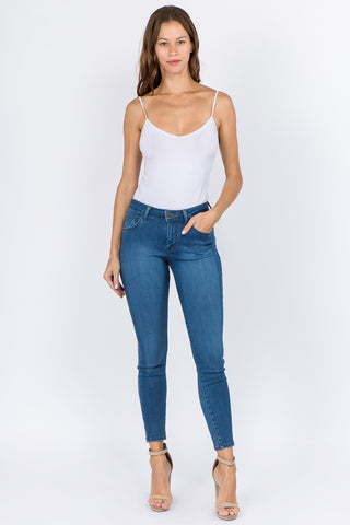 PREMIUM MID RISE BASIC SKINNY JEANS (A PACK)