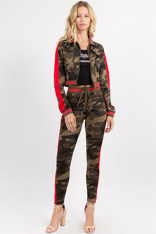 COLOR CAMO PRINTED TRACK JACKET -Wholesale Americanbazi