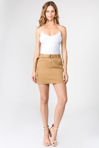 CARGO SKIRTS WITH BELT AND POCKETS