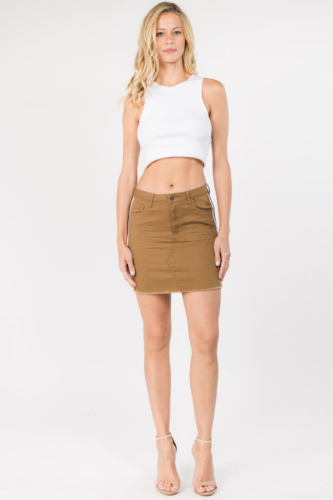 22ae53741f2 PLUS SIZE SIDE TAPED COLOR SKIRT – AmericanBazi