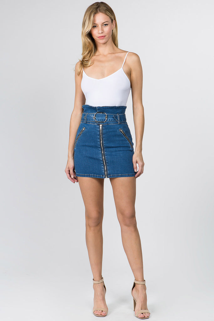 22a541f3e561 DENIM SKIRTS WITH PAPER BAG WAIST – AmericanBazi | Online Wholesale ...