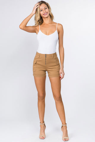 HIGH WAIST CARGO SHORTS WITH VARIOUS COLORS -Wholesale Americanbazi