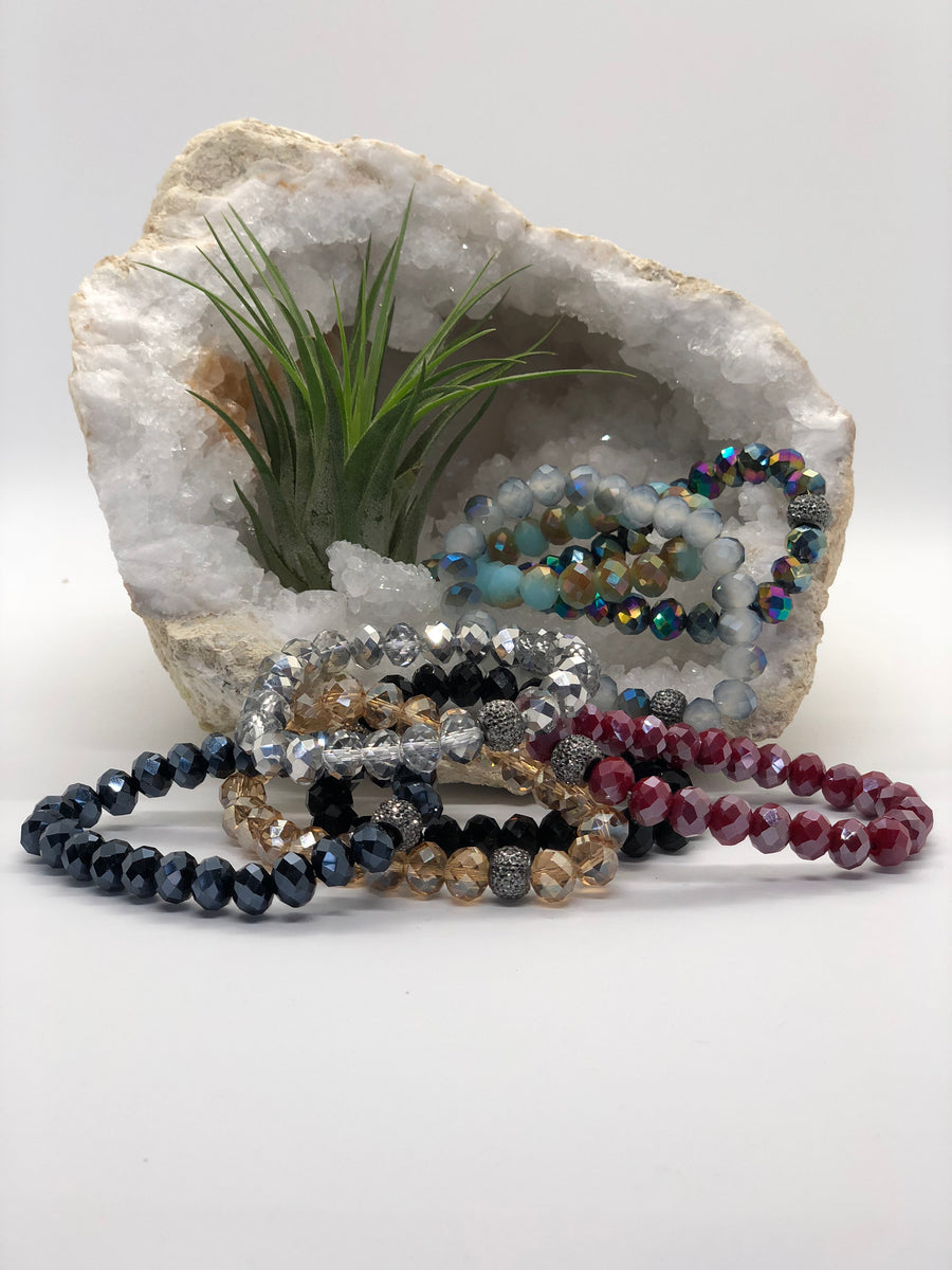 The power of positivity  layer up on semiprecious stones imbued with inspiring meaning and feel-good energy.