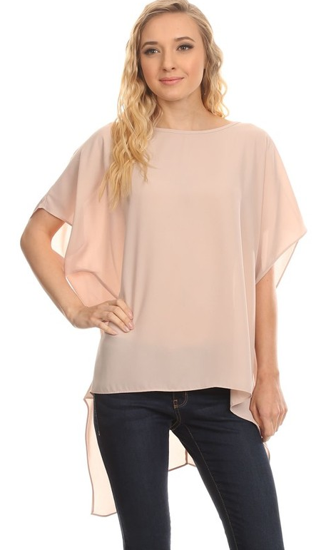1801   Hi-Lo Asymmetric Top One Size