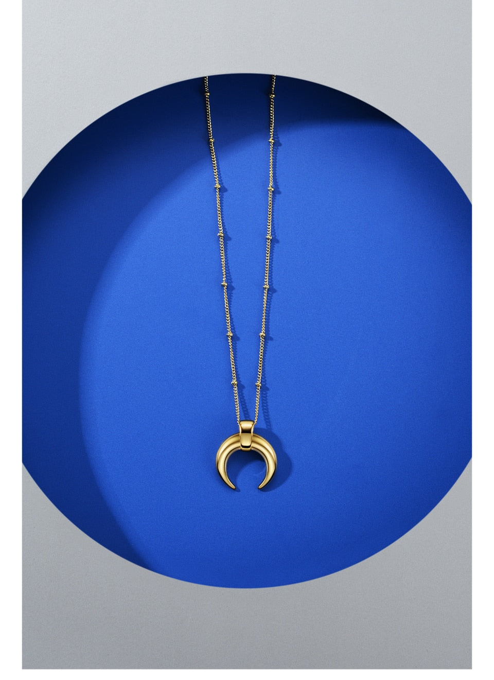 Moon Necklace  Stainless Steel