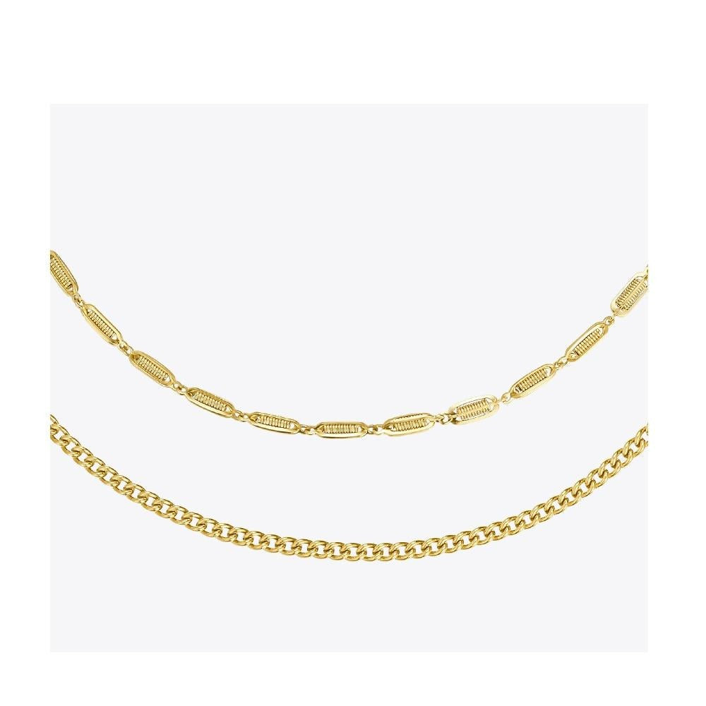 Double Chain Choker Necklace