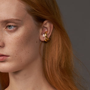 Celeste Glass Ear Cuff Earrings