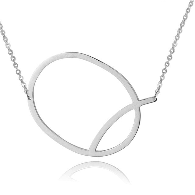 Silver Initial Necklace