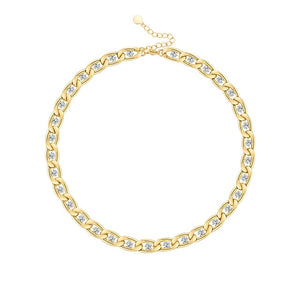 Aria Swarovski Chain Necklace