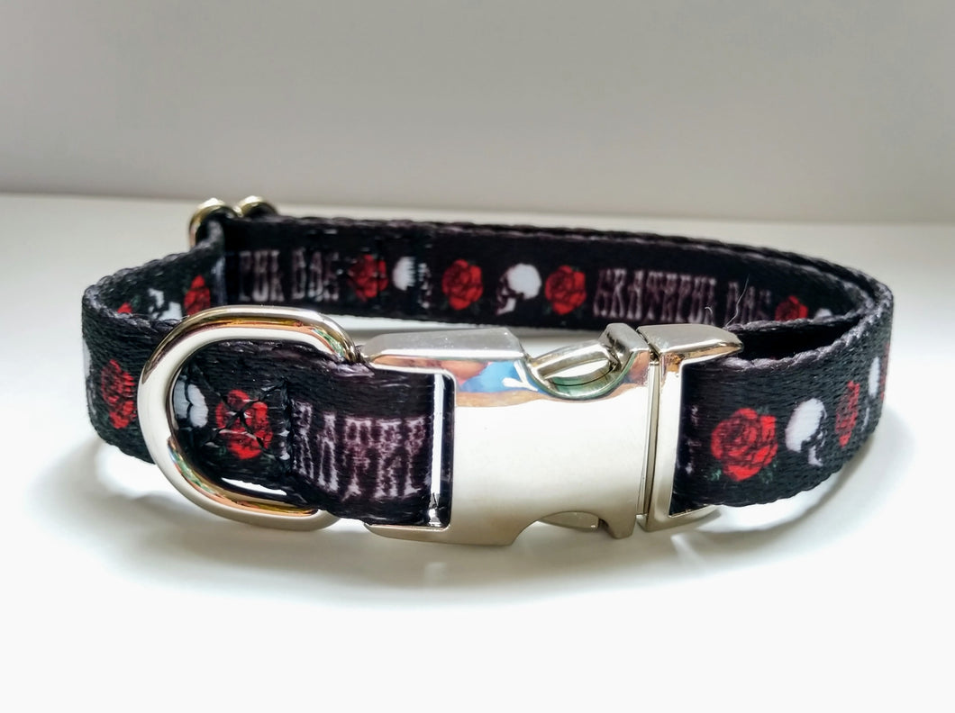 Grateful Dog Collar Metal Buckle Small