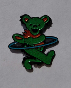 Glitter Green Hooping Bear