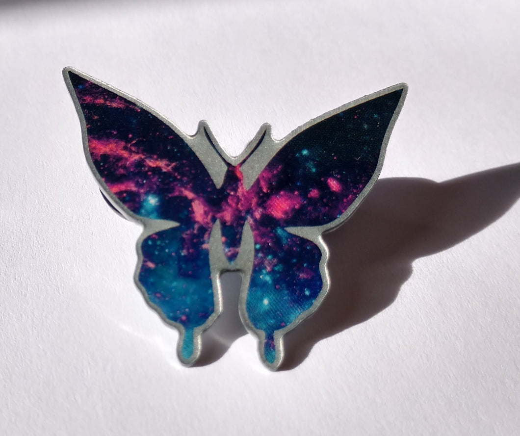 Galaxy Butterfly Pin