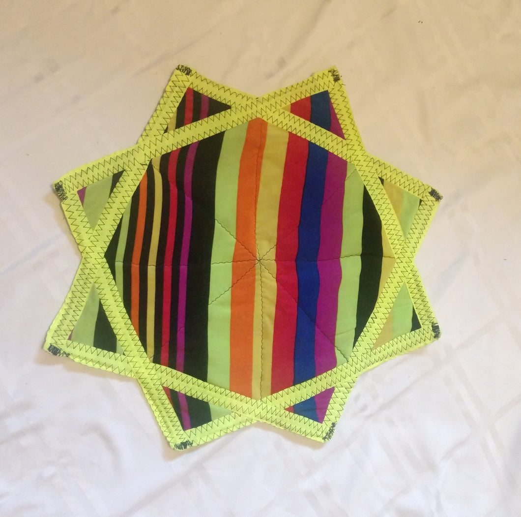 Small Guatemalan Dapo Star Poi Cloth 2