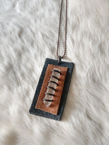 Leather and Gemstone Pendant #7
