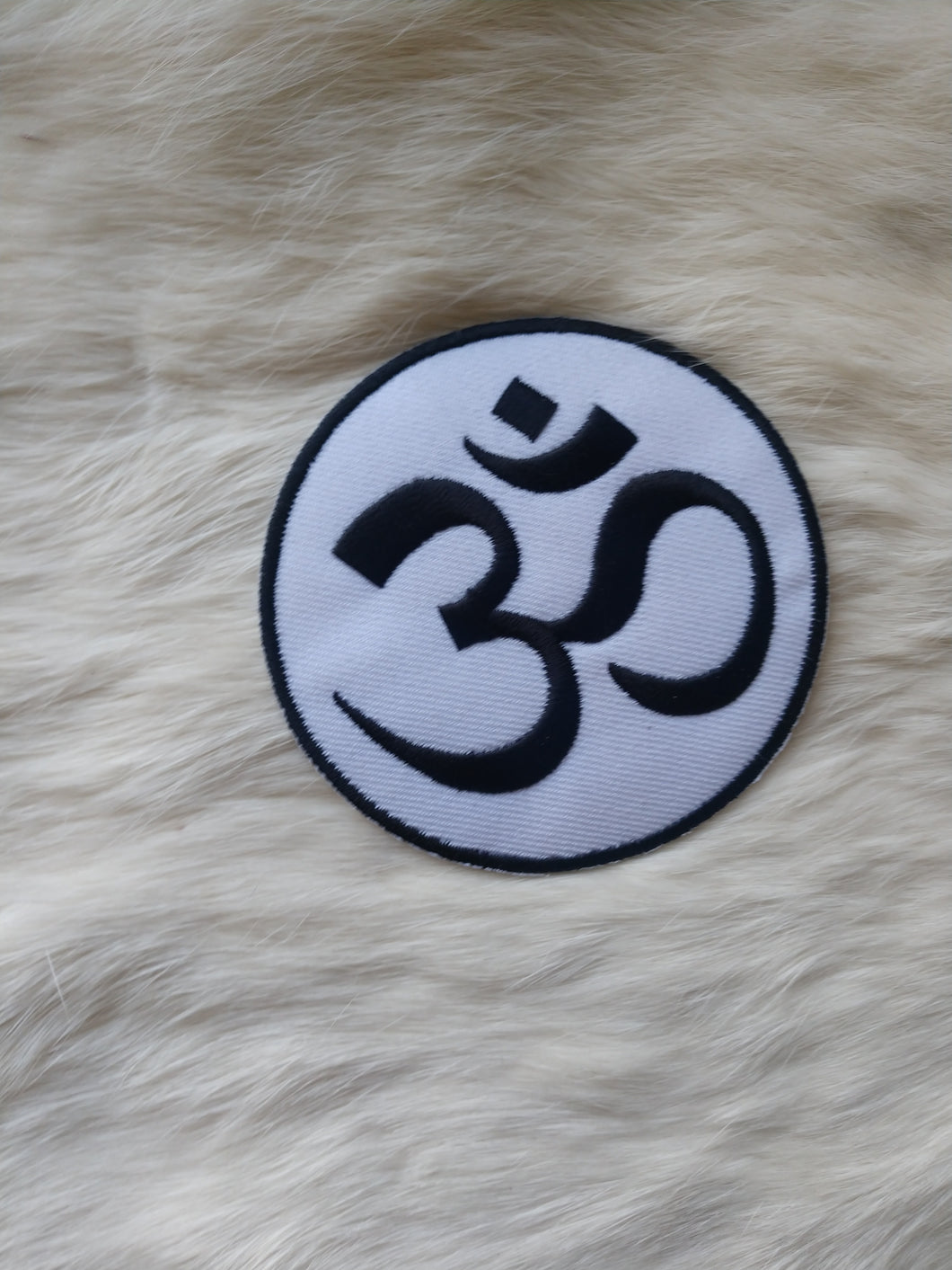 Black and White Om Patch