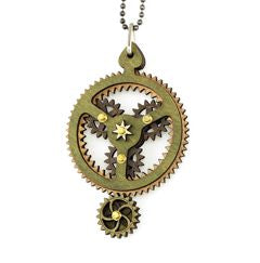 Planetary Gear Pendant Green/Brown