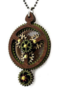 Planetary Gear Pendant Green/Brown/Red