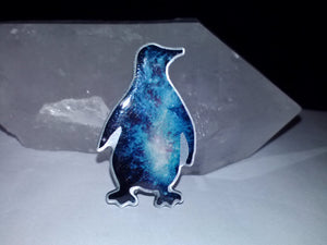 Galaxy Penguin Pin