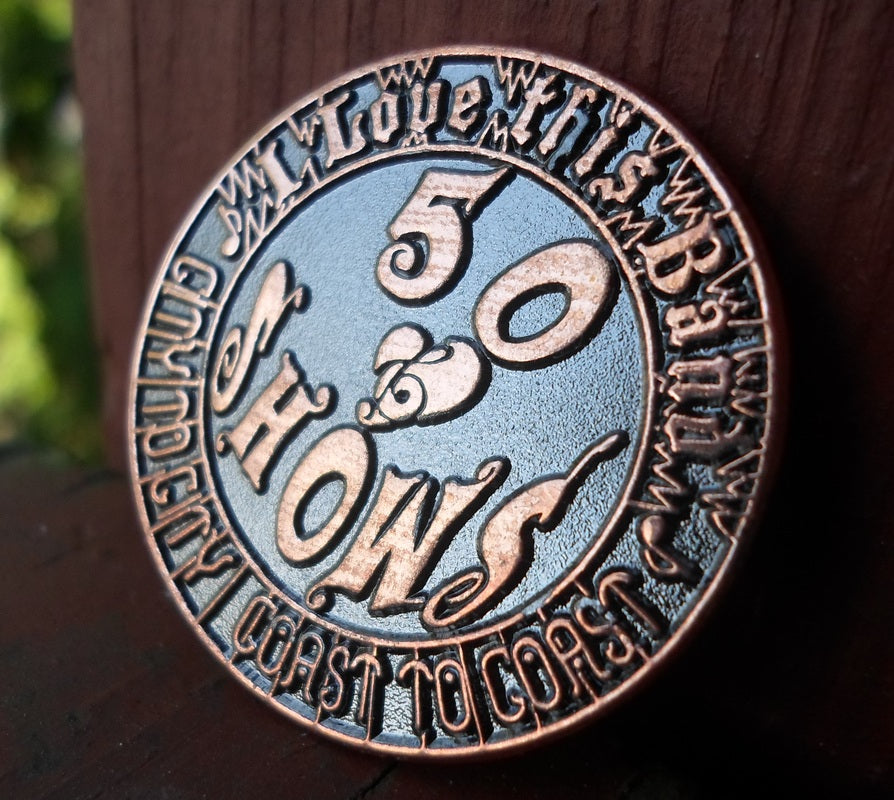 50 Shows Coin Pin