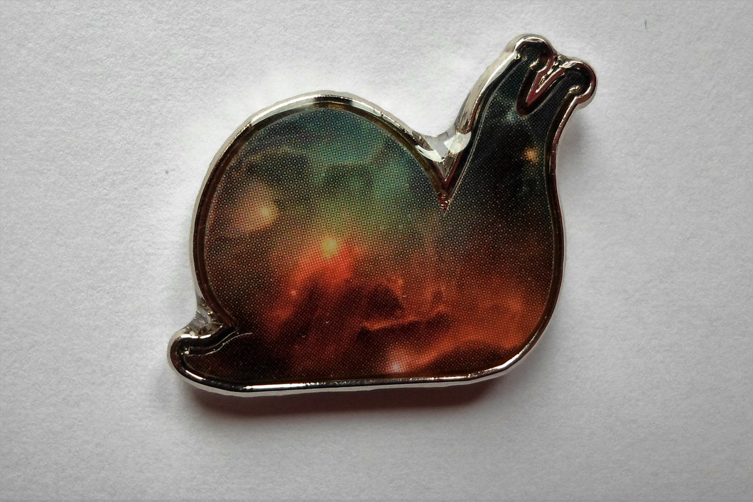 Galaxy Snail Pin