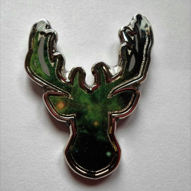 Galaxy Deer Pin