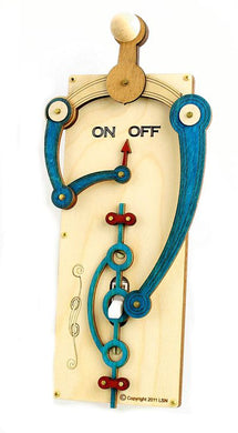 Red White Blue Toggle Switch Plate