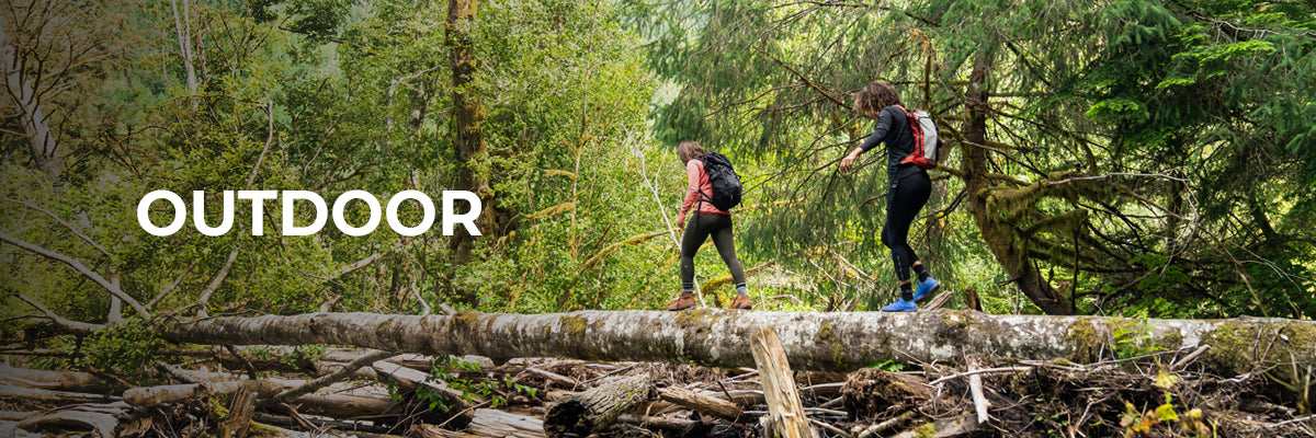 Swiftwick Hiking & Outdoor Header Image, Two friends hiking