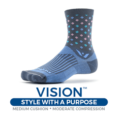 Swiftwick Vision Socks, Style with a Purpose, Medium Cushion, Moderate Compression