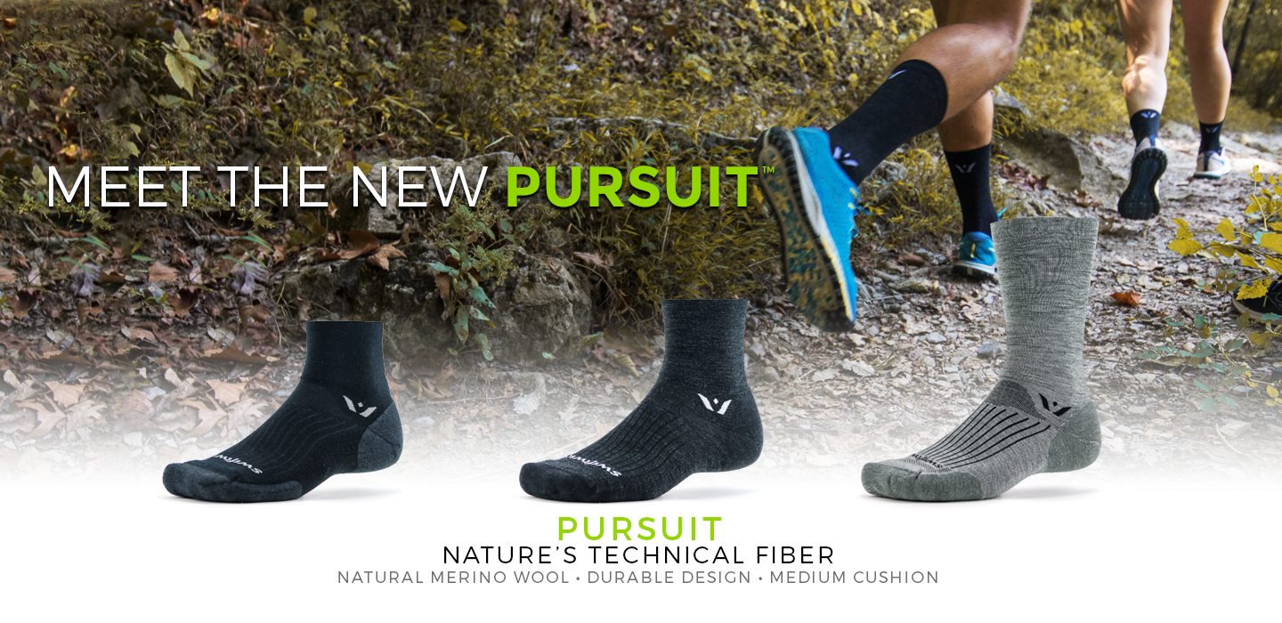 Swiftwick Pursuit, Merino Wool Socks