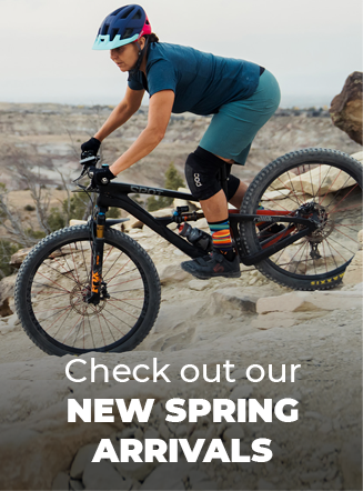 Check out our New Spring Arrivals, woman cycling