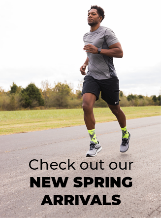 Check out our New Spring Arrivals, man running
