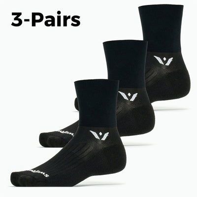 Aspire Four 3-Pairs Socks, black