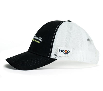 Swiftwick Trucker Hat, black white