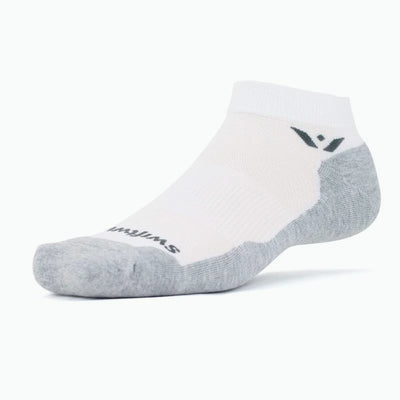 Swiftwick MAXUS One, Running, Fitness, Golf Socks, white