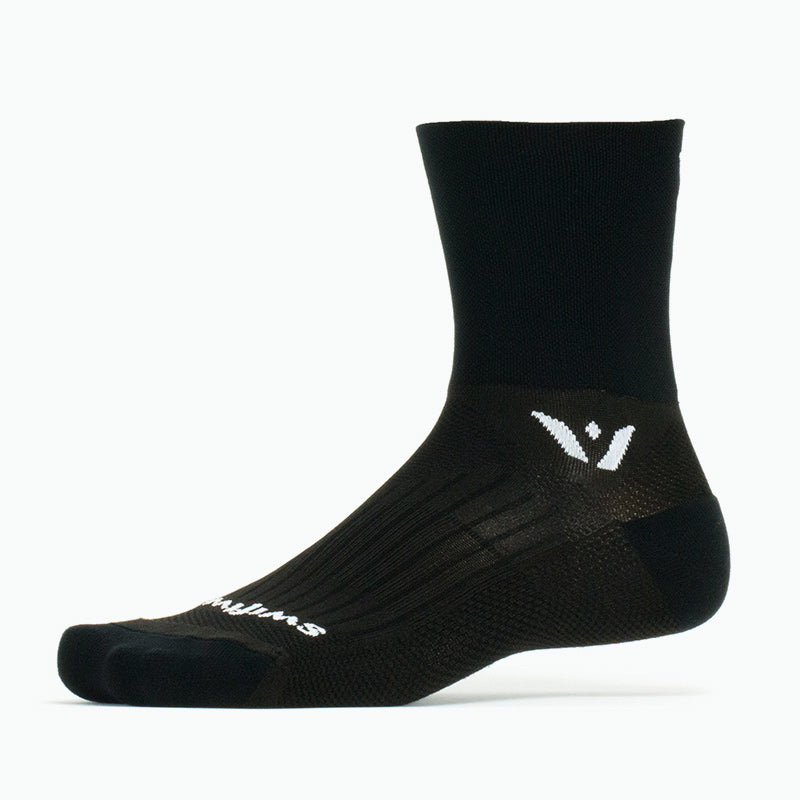 Swiftwick PERFORMANCE Four, Cycling Socks, black