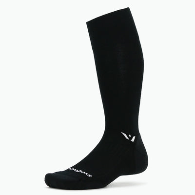 Swiftwick PURSUIT Twelve, Merino Wool, Trail Running, Snowsports, Cycling Socks, Black
