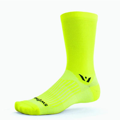 new Swiftwick ASPIRE Seven, Running, Cycling Socks, hi-viz yellow