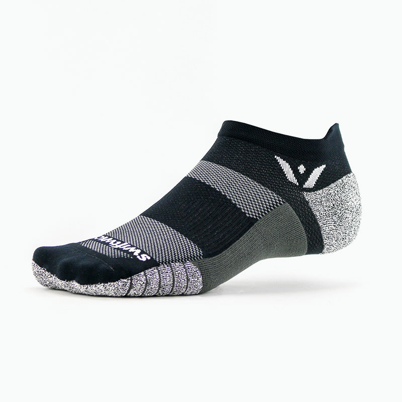 Swiftwick FLITE XT Zero Tab, fitness, workout, crossfit socks, black