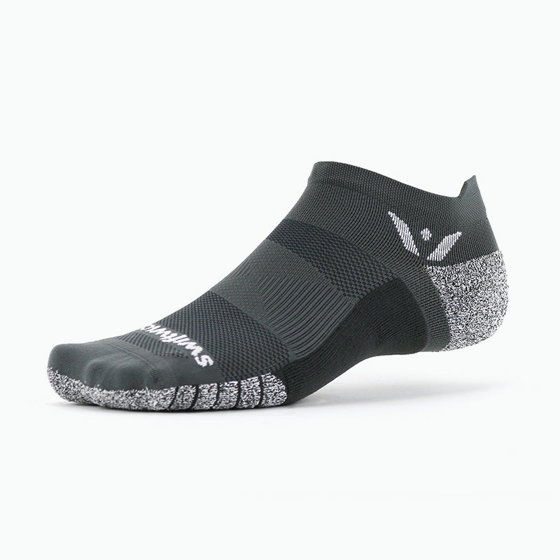Swiftwick FLITE XT Zero Tab, fitness, workout, crossfit socks, gray