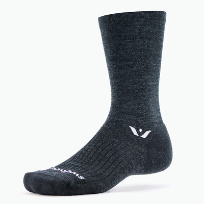 Swiftwick PURSUIT Seven, Merino Wool, Cycling, Hiking, Trail Running Socks, Coal