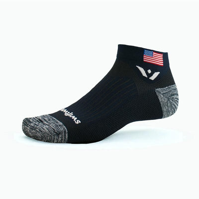 new Swiftwick VISION One Tribute Athletic Sock, USA, America, United States, flag navy