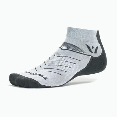 Swiftwick VIBE One, Running, Trail Running Socks, Grey