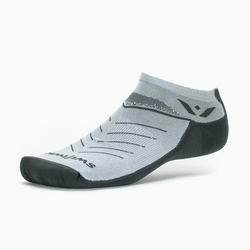 Swiftwick VIBE Zero, Running, Trail Running Socks, Grey