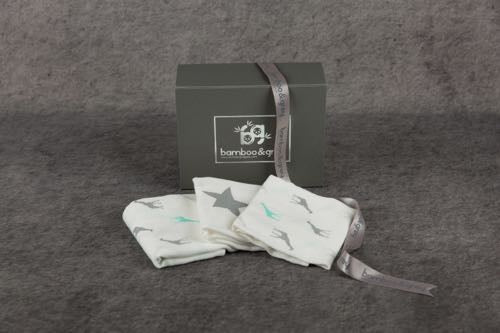 Luxury Muslin Gift Box - Bamboo & Grey
