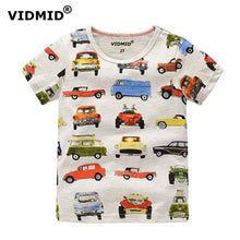 VIDMID 1-10Y Children's T shirt boys t-shirt Baby Clothing Little boy Summer shirt Tees Designer Cotton Cartoon Dinosaur brand