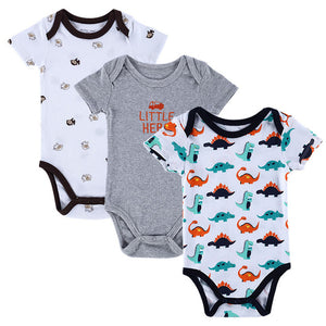 BABY BODYSUITS 3PCS 100%Cotton Infant Body Short Sleeve Clothing Similar Jumpsuit Printed Baby Boy Girl Bodysuits
