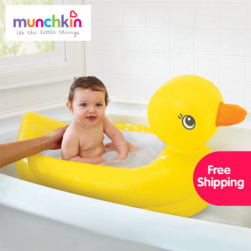 Munchkin White Hot Inflatable Safety Bath Tub Duck free shipping worldwide 1 count  Kids Mini playground