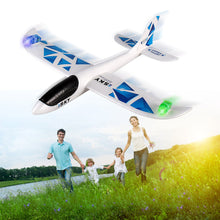 Foam Throwing Glider Inertia Led Night Aircraft Toy Hand Launch Airplane Model