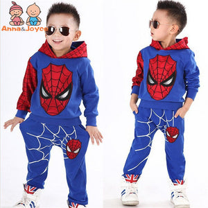 1 Suit Children 's Clothing Spring and Autumn Version of The Male and Female Children' Spiderman Set Fashion Suit ATST0279