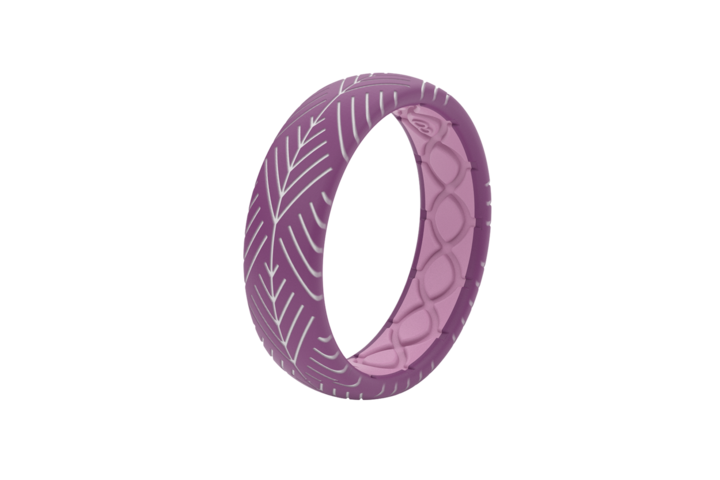 Thin Dimension Ring - Arrows Lilac